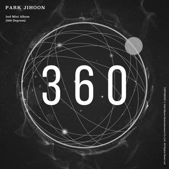 박지훈 두 번째 미니앨범 '360' 커버./사진제공=마루기획