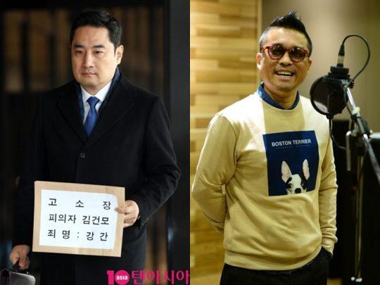 가로세로연구소의 소장을 맡고 있는 변호사 강용석(왼쪽), 가수 김건모 / 사진=텐아시아DB, 건음기획