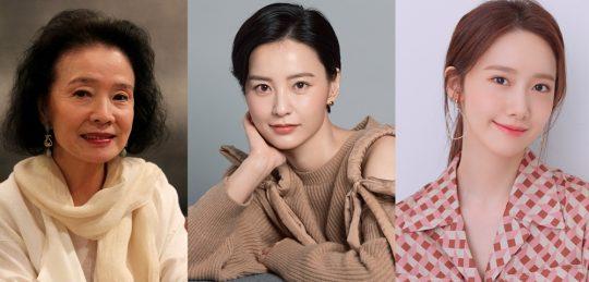 배우 윤정희(왼쪽부터), 정유미, 임윤아./ 사진제공=여성영화인모임