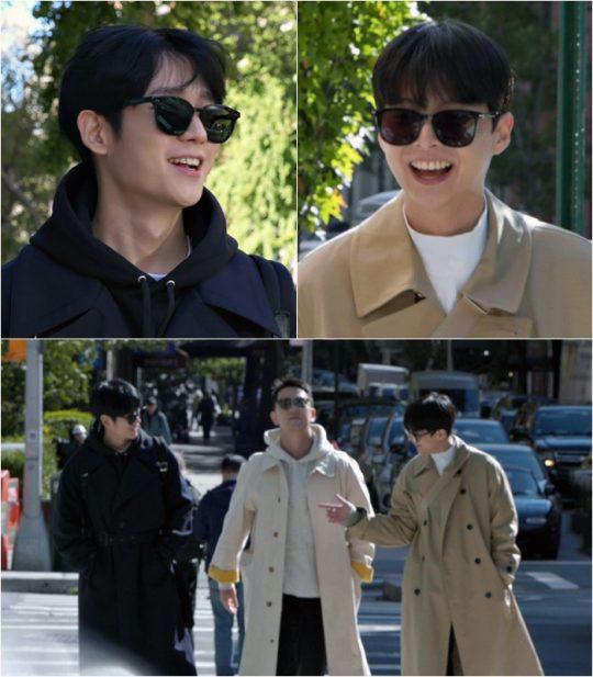 '정해인의 걸어보고서' 정해인(아래 사진 왼쪽부터), 은종건, 임현수. /사진제공=KBS2