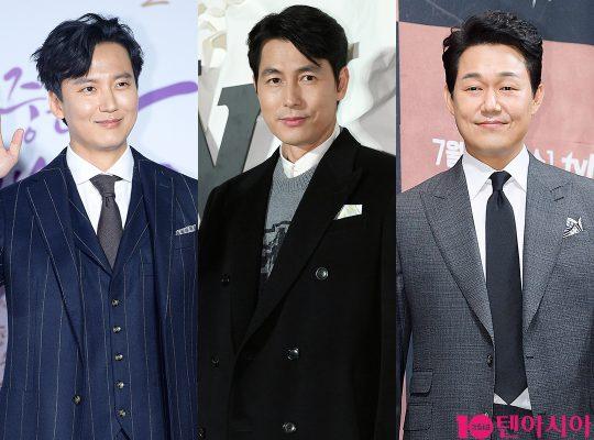 배우 김남길(왼쪽부터), 정우성, 박성웅. /사진=텐아시아DB