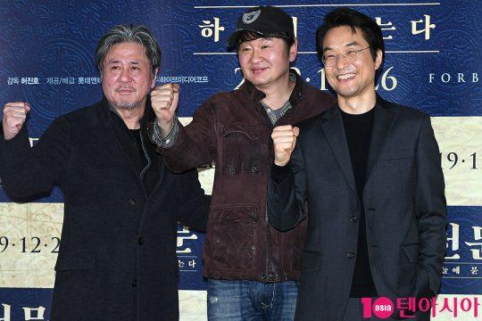 최민식(왼쪽부터), 허진호 감독, 한석규