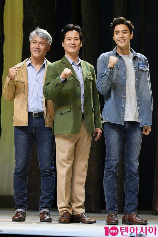 배우 박호산(왼쪽부터), 남경주, 손준호