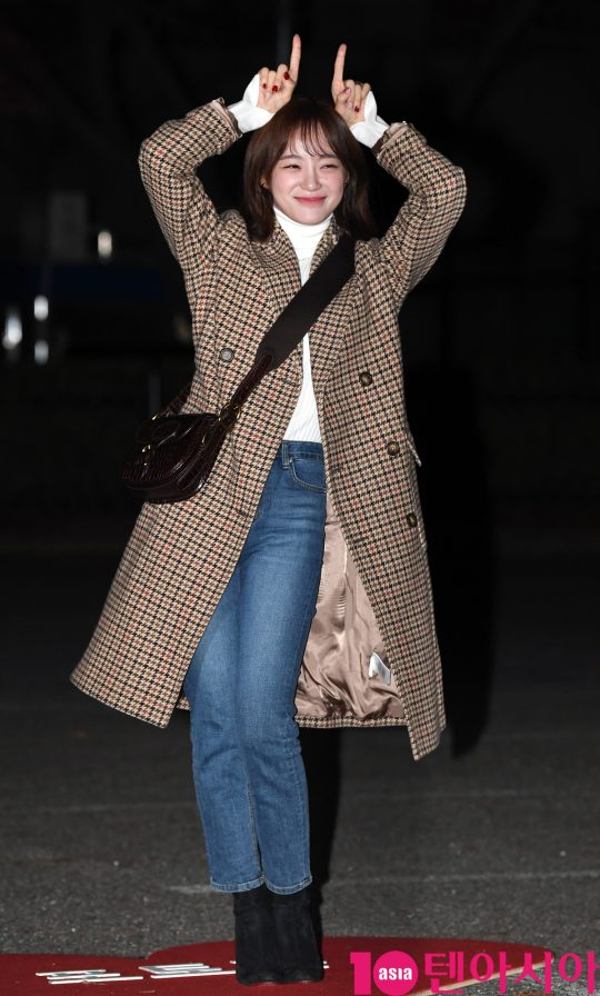 구구단 세정이 20일 오전 서울 여의도 KBS 신관 공개홀에서 열린 KBS2 '뮤직뱅크'(뮤뱅) 리허설에 참석하고 있다.