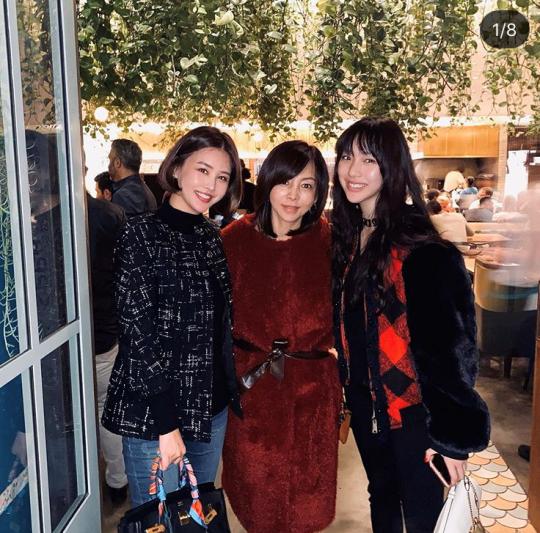 박은지(왼쪽부터), 황신혜-이진이 모녀./ 사진=박은지인스타그램