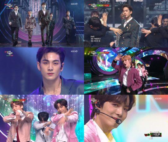 KBS2 '뮤직뱅크' 방송화면. /사진제공=KBS