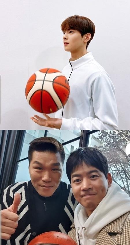 SBS 새 예능 '진짜 농구, 핸섬 타이거즈'에 출연하는 그룹 아스트로의 차은우(위), 배우 이상윤. /사진제공=SBS