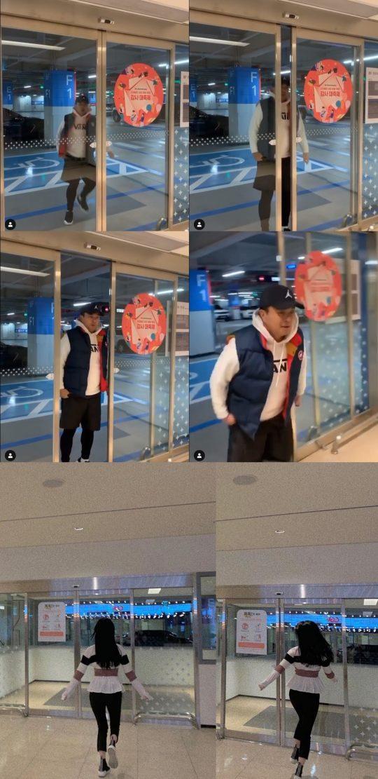 정준-김유지 영화관 데이트./ 사진=인스타그램