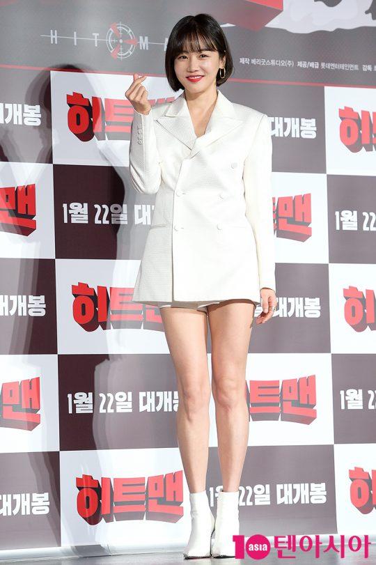 영화 '히트맨'에서 준(권상우 분)의 아내 미나를 연기한 배우 황우슬혜./ 서예진 기자 yejin@