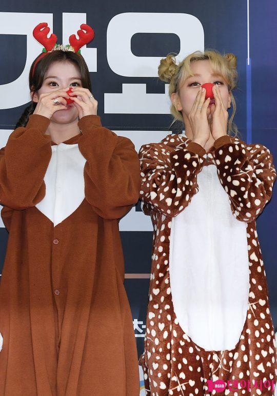 트와이스 사나-지효 '조심 조심'