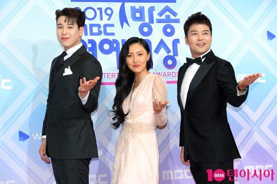 블락비 피오(왼쪽부터), 마마무 화사, 방송인 전현무