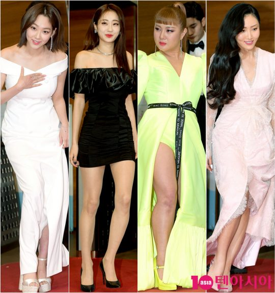 미나(왼쪽부터), 경리, 박나래, 화사