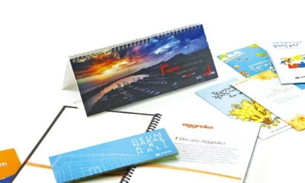 판촉기념물과 인쇄홍보물 제작 전문업체인 (주)네오누리콤의 인쇄물 제작 서비스.