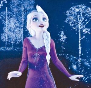개봉 17일 만에 누적 관객 수 1000만 명을 돌파한 디즈니 애니메이션 '겨울왕국2'.