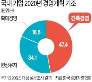 """기업 절반 """"내년 긴축경영"""""""
