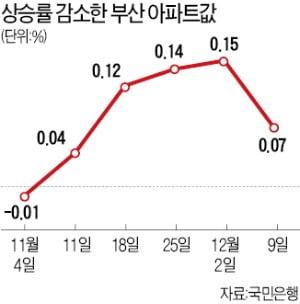뜨겁던 부산 집값, 벌써 하락?