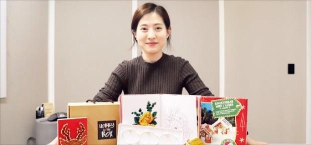 조유진 하비인더박스 대표가 '건강한 놀이'를 표방하는 취미용품에 대해 설명하고 있다.  /김정은 기자