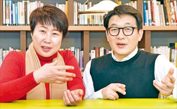 """김인복 서관면옥 대표(왼쪽)과 박도근 (주)다른 대표는 """"한양사이버대에서 배운 실전형 지식이 사업 성장에 큰 도움이 됐다""""고 입을 모아 말했다.  /김영우 기자 youngwoo@hankyung.com"""