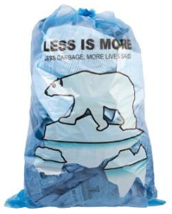 선문대가 아산시에 기증한 북극곰과 고래 캐릭터 종량제 봉투 디자인.  선문대 제공