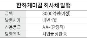 [마켓인사이트] 한화케미칼, 큐셀과 합병 후 3000억 조달