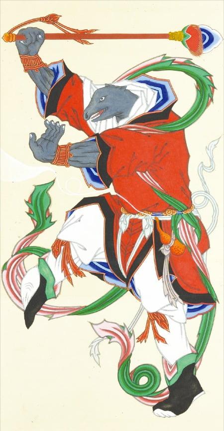 열두 띠 동물 중 '쥐의 신(子神)'을 그린 그림. /국립민속박물관 제공