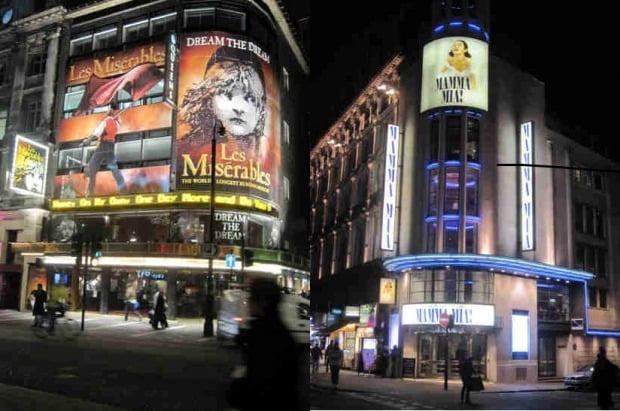 영국 런던 웨스트엔드의 뮤지컬 극장들 모습. 한경DB