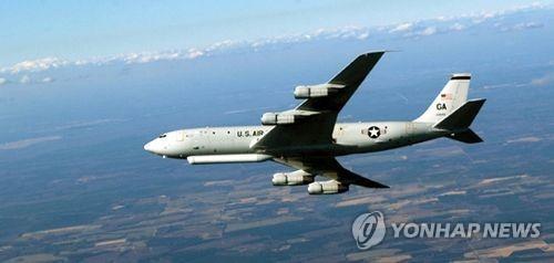 美정찰기, 연일 대북 감시비행…E-8C 지상감시기 또 출동