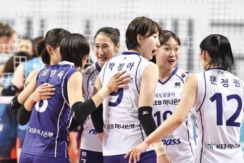 박정아 26득점 펄펄…도로공사, 선두 GS칼텍스 꺾고 4위 도약