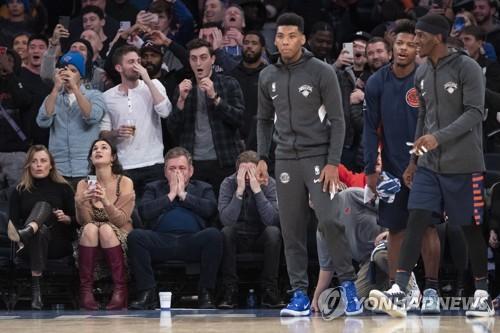 NBA 뉴욕, 뼈아픈 자유투 실패…9연패 수렁(종합)