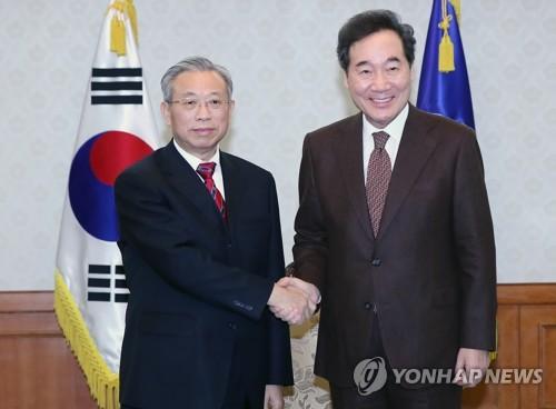 이총리, 류자이 中산둥성 서기 접견…미세먼지 저감 논의