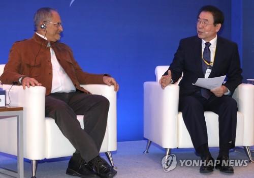 """박원순 """"서울-평양 공동 올림픽은 '평화공동체' 기회""""(종합)"""