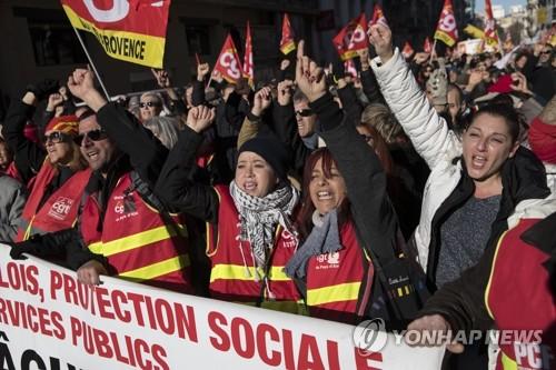 프랑스 연금개편 반대 총파업 4주째…출구 안보여