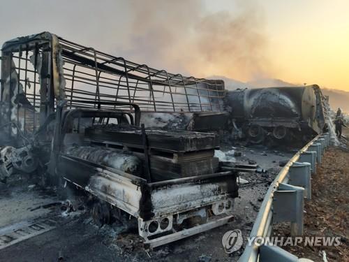 상주-영천 '블랙 아이스' 사고, 16일 관계기관 합동조사(종합)