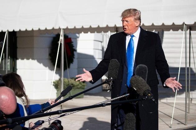 """[종합]한미 정상 통화 마친 트럼프 北에 """"지켜보겠다""""(사진=AP)"""
