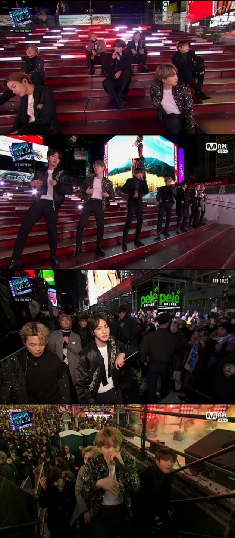 방탄소년단 '뉴 이어스 로킹 이브' 공연 /사진=Mnet 방송화면 캡처