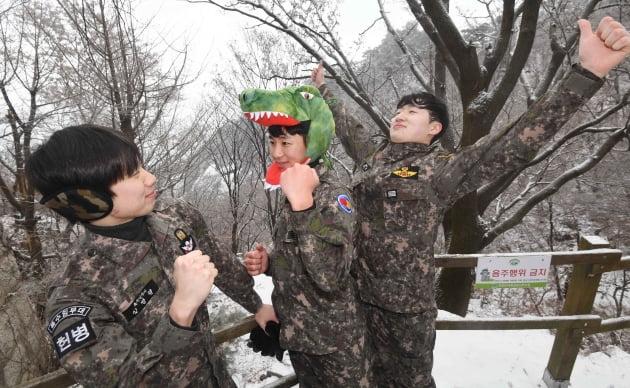 북한산 정상에서 새해맞이