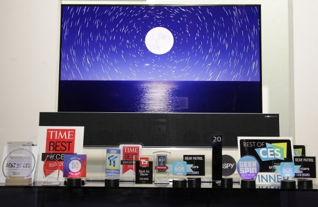 LG전자가 선보인 혁신 제품과 서비스들이 CES 2020에서 총 119개의 어워드를 받았다. 특히 TV 제품이 전체 어워드 가운데 절반 이상을 차지하며 기술 리더십을 인정받았다/사진제공=LG전자