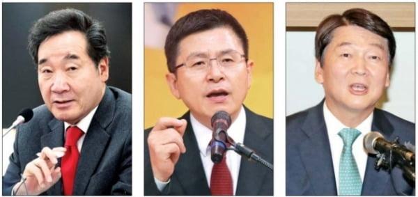 이낙연 국무총리·황교안 자유한국당 대표·안철수 前 국민의당 대표