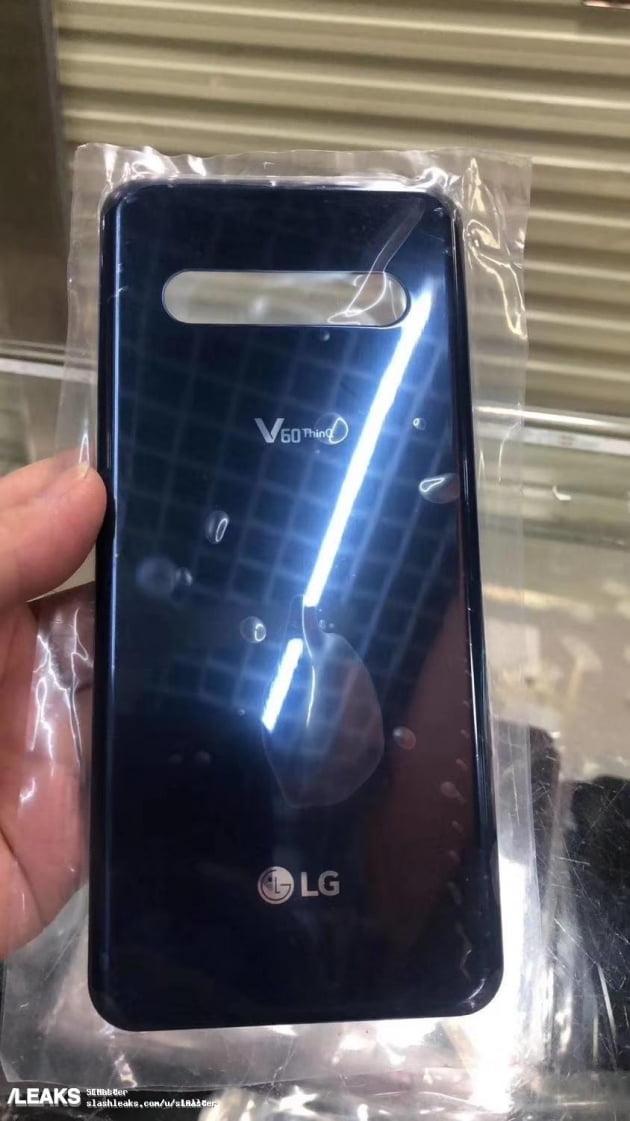 LG전자의 올 상반기 전략 스마트폰 'V60 씽큐'의 후면 케이스 디자인으로 추정되는 사진이 온라인 상에 유출됐다. 사진=슬래시리크스