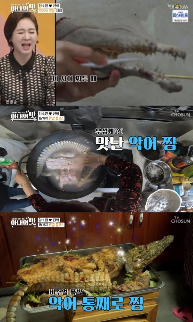 '아내의 맛' 함소원 악어찜 만들기 /사진=TV조선