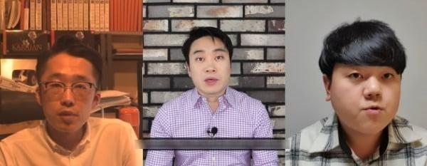보수진영 유튜버로 맹활약 중인 성제준 씨, 이재홍 씨, 임승호 씨(왼쪽부터)의 모습 /사진=유튜브 채널 성제준TV, 지식의 칼, 영폴리TV 영상 캡처