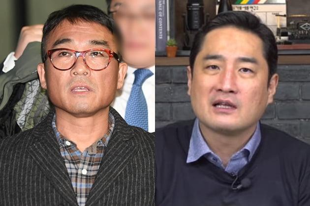 김건모 강용석 /사진=한경DB, 유튜브 가세연