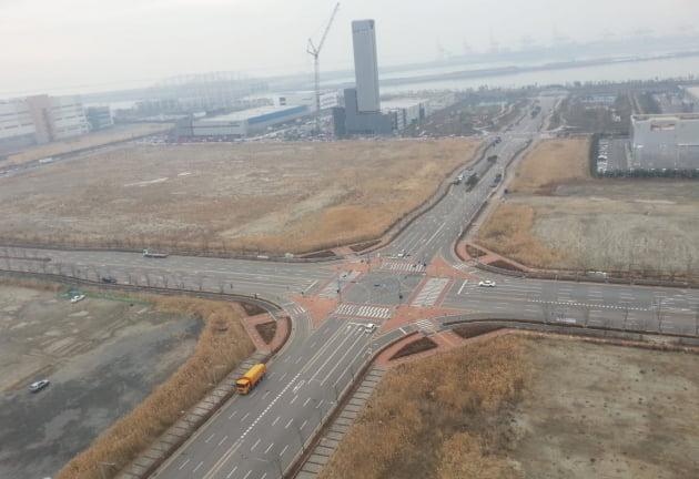 인천 송도국제도시에 조성되고 있는첨단산업클러스터 부지의 일부. 인천경제청 제공