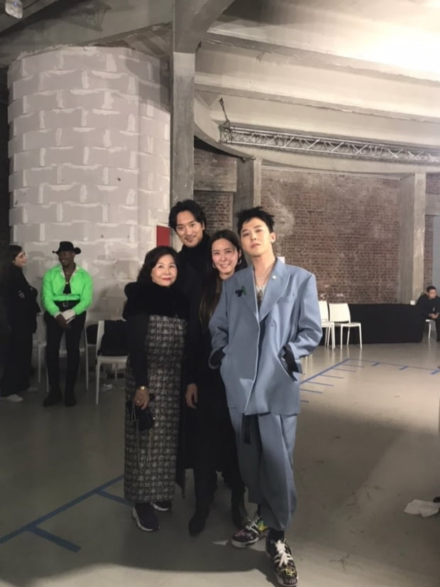 김민준과 권다미, 그리고 지드래곤 /사진=가족이엔티