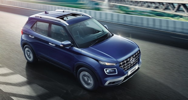 인도 시장에 출시된 현대차 경형 SUV 베뉴. 사진=현대자동차