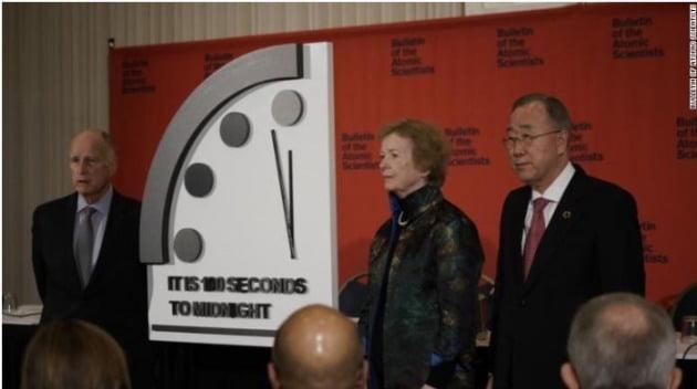 지구 종말 시계 /사진=CNN 캡처