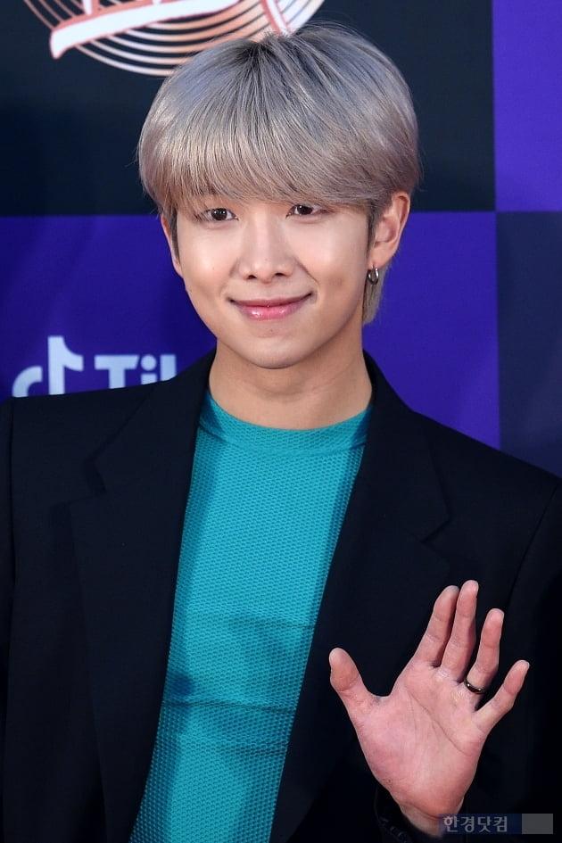 [포토] 방탄소년단 RM, '장난꾸러기 미소'(골든디스크)