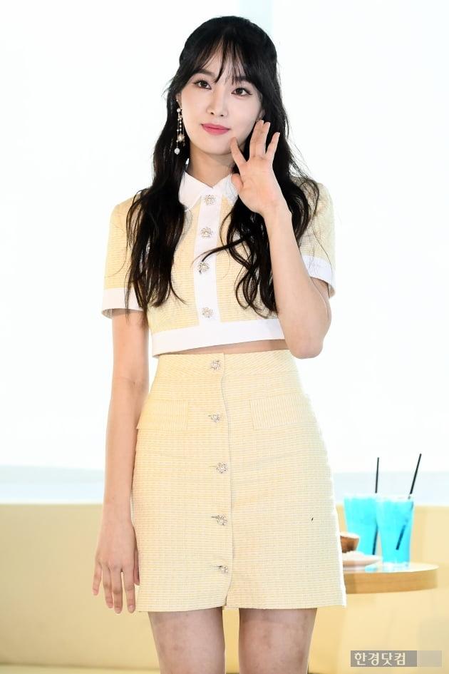 [포토] 네이처 새봄, '매력적인 손인사~'