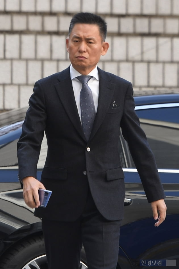 [포토] 법정 향하는 황성수 전 삼성전자 전무