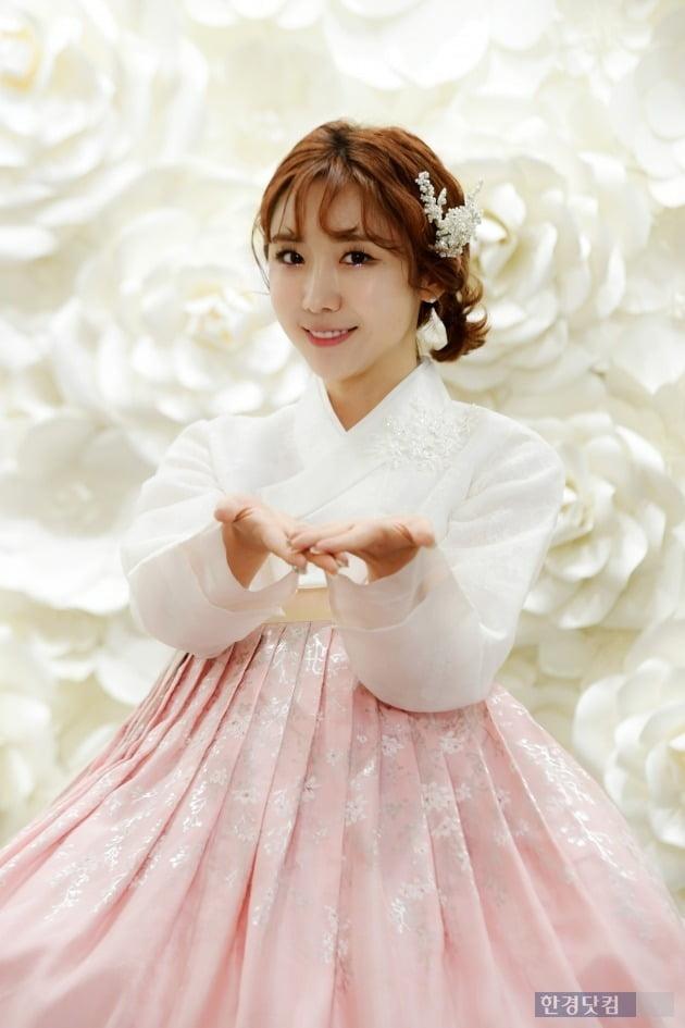 '미스트롯' 하유비 한복 인터뷰 /사진=최혁 기자